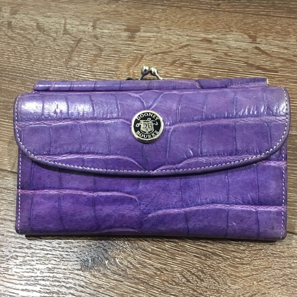 Dooney & Bourke vintage purple wallet